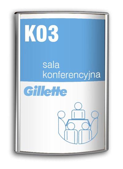 Tabliczka informacyjna Gillette