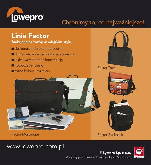 Lowepro – Linia Factor